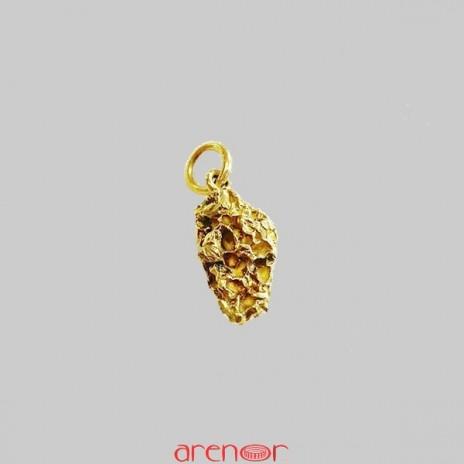 Pendentif pepite d'or