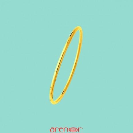 Bracelet jonc massif or jaune 20g