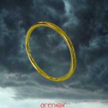 Bracelet jonc massif or jaune 45g